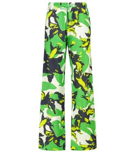 Pantalon de survêtement imprimé en coton - Dries Van Noten - Modalova