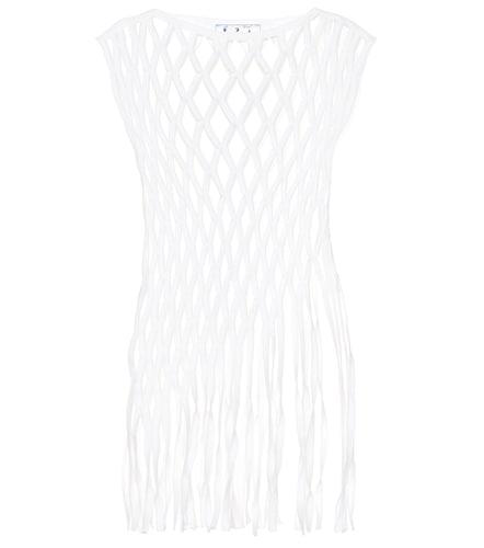 Top en coton et laine mélangés - Off-White - Modalova