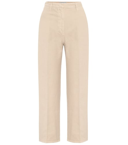 Pantalon droit en coton - Prada - Modalova