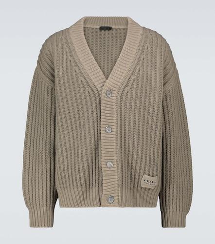Cardigan en laine et cachemire mélangés - Prada - Modalova