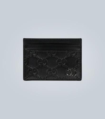 Porte-cartes Signature en cuir - Gucci - Modalova