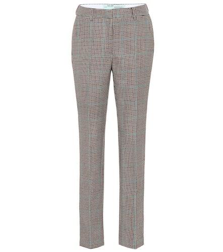 Pantalon droit à carreaux - Off-White - Modalova