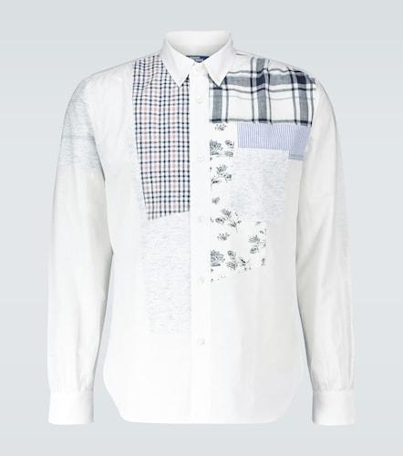 Chemise patchwork en coton et lin - Junya Watanabe - Modalova
