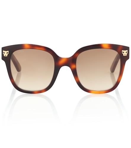 Lunettes de soleil carrées Panthère de Cartier en acétate - Cartier Eyewear Collection - Modalova