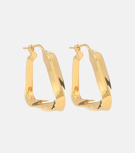 Boucles d'oreilles en argent plaqué or - Bottega Veneta - Modalova