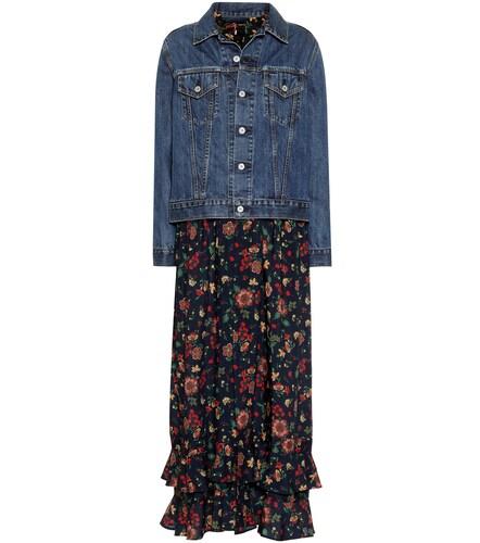 Veste en jean façon robe en laine et coton - Junya Watanabe - Modalova