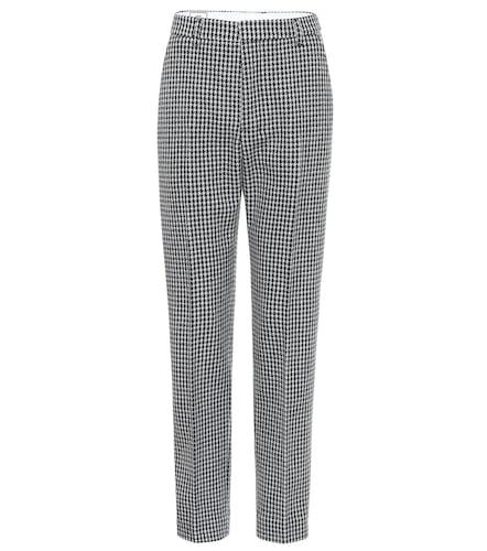 Pantalon en laine mélangée à carreaux - AMI PARIS - Modalova