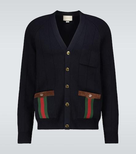 Cardigan en laine mélangée - Gucci - Modalova