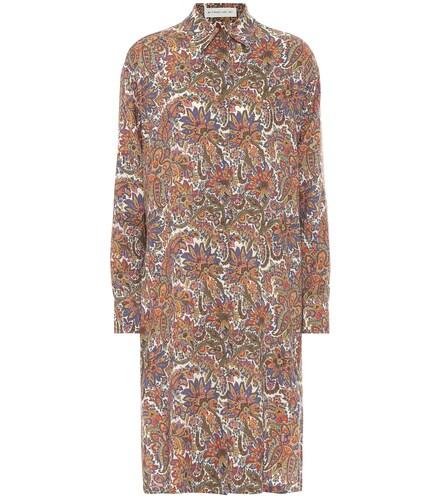 Robe chemise imprimée en laine et soie - ETRO - Modalova