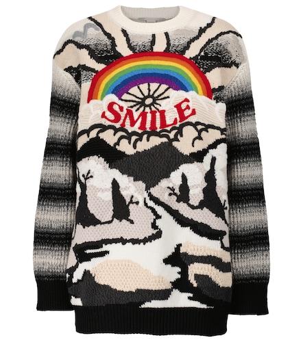 Pull en laine et en coton intarsia - Stella McCartney - Modalova