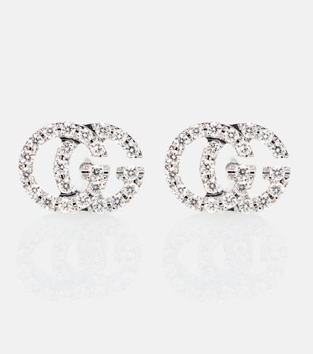 Boucles d'oreiles GG Running en or blanc 18 ct et diamants - Gucci - Modalova