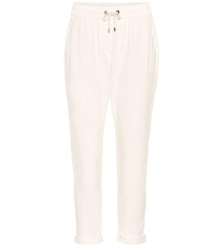 Pantalon de survêtement raccourci en coton stretch - Brunello Cucinelli - Modalova