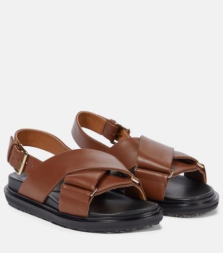 Sandales Fussbett en cuir - Marni - Modalova