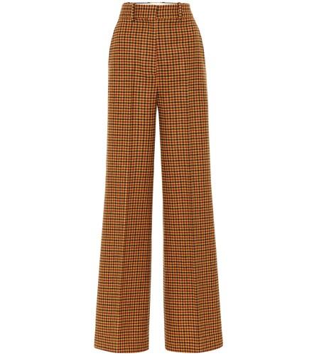 Pantalon ample Bernadette en laine à carreaux - Khaite - Modalova