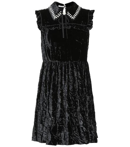 Mini-robe en velours martelé - Miu Miu - Modalova