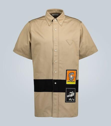 Chemise chino à manches courtes - Prada - Modalova