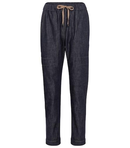 Pantalon en jean à ornements - Brunello Cucinelli - Modalova