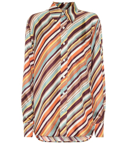 Chemise rayée en soie - Marni - Modalova