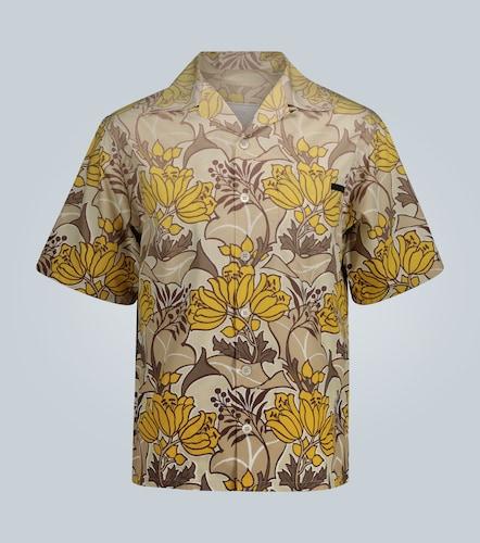 Chemise manches courtes à imprimé floral - Prada - Modalova
