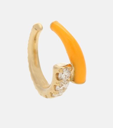Boucle d'oreille unique Lola en or 18 ct et diamants - Melissa Kaye - Modalova