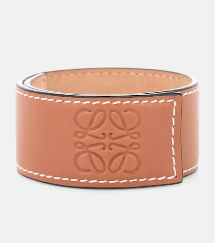Bracelet Anagram en cuir embossé - Loewe - Modalova