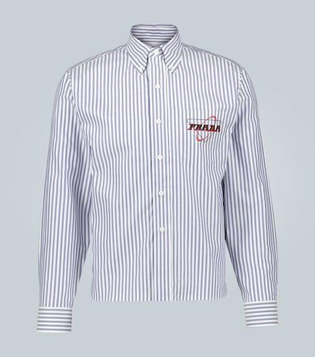 Chemise rayée à logo - Prada - Modalova
