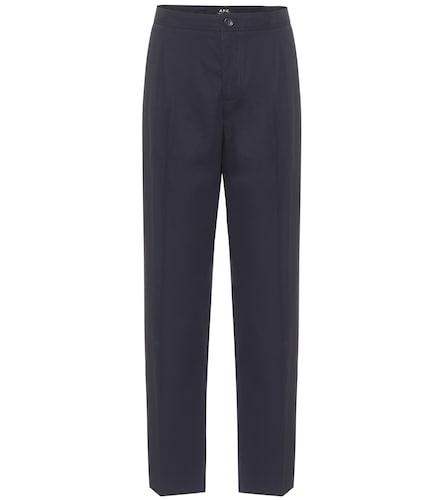 Pantalon droit Amalfi en crêpe de coton - A.P.C. - Modalova