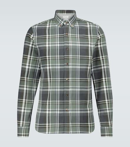 Chemise en flanelle à carreaux - Brunello Cucinelli - Modalova