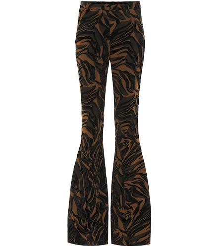 Pantalon évasé à taille haute et motif tigré - Mugler - Modalova