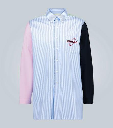 Chemise rayée à dos vert - Prada - Modalova