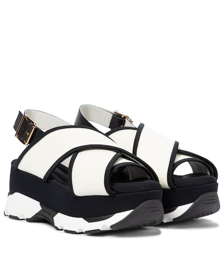 Sandales à plateforme en cuir - Marni - Modalova