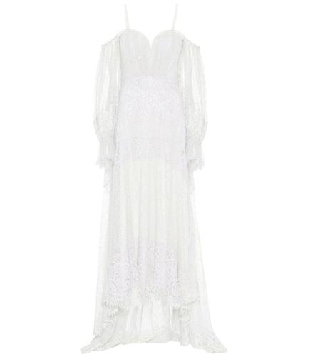Robe longue en dentelle de coton mélangé - Jonathan Simkhai - Modalova