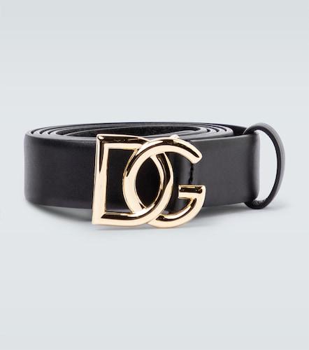 Ceinture fine en cuir - Dolce & Gabbana - Modalova