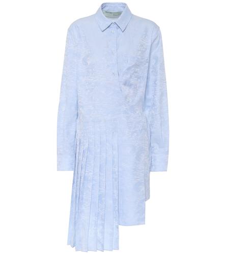Robe chemise portefeuille en jacquard de coton - Off-White - Modalova