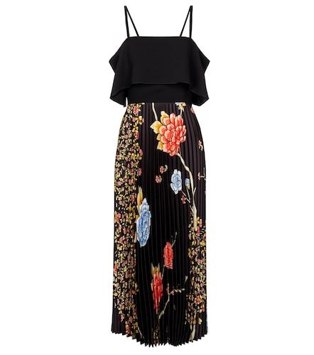 Robe longue à encolure bardot à fleurs - Victoria Victoria Beckham - Modalova