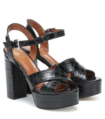 Sandales à plateau en cuir embossé - Paris Texas - Modalova