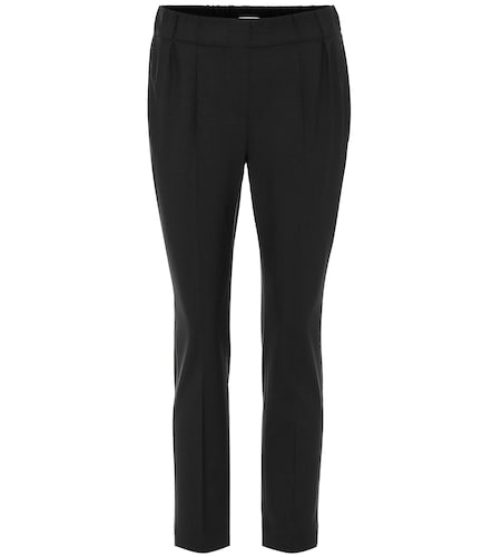 Pantalon raccourci en laine mélangée - Brunello Cucinelli - Modalova