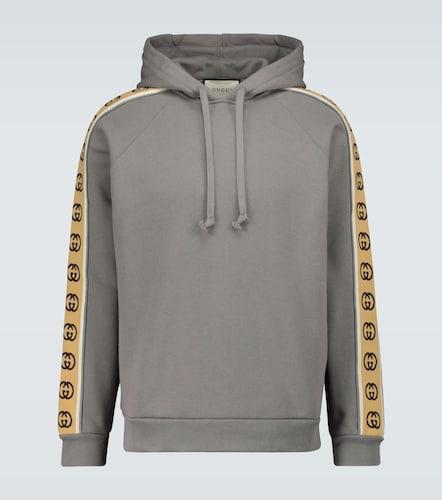 Sweat-shirt à capuche à manches GG - Gucci - Modalova