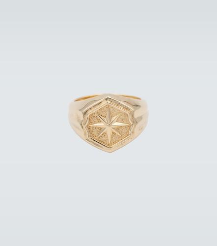 Chevalière en argent sterling plaqué or 18 ct - Bottega Veneta - Modalova
