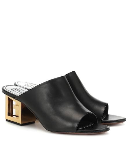Mules Triangle en cuir - Givenchy - Modalova