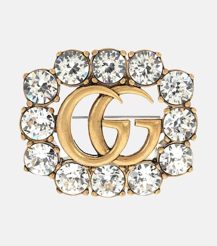 Broche Double G à cristaux - Gucci - Modalova