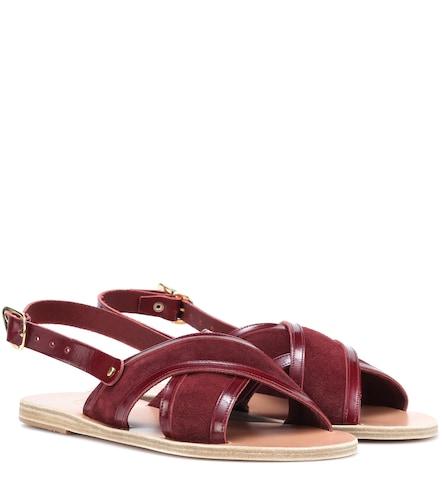 Sandales en cuir et daim Mari - Ancient Greek Sandals - Modalova