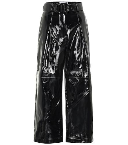 Pantalon à taille haute en cuir synthétique - Self-Portrait - Modalova
