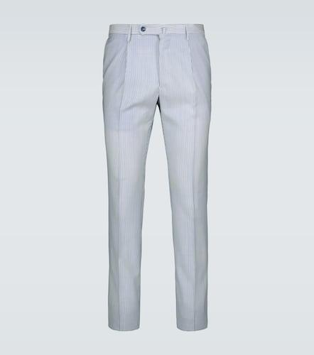 Pantalon slim en laine mérinos - Incotex - Modalova