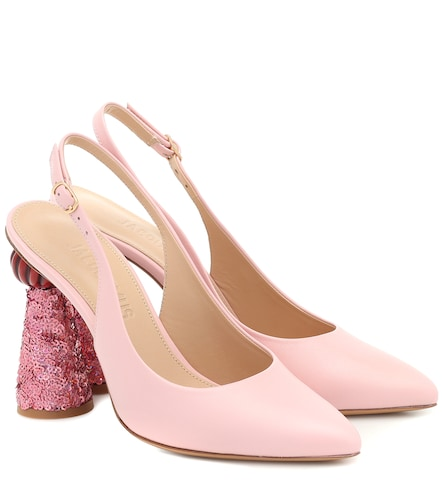 Escarpins Les Chaussures Loiza en cuir à sequins - Jacquemus - Modalova