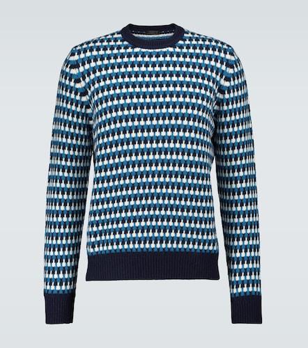 Pull en jacquard de laine et cachemire - Prada - Modalova