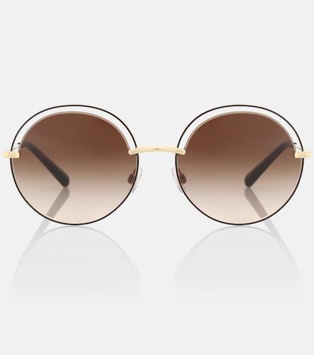 Lunettes de soleil rondes - Dolce & Gabbana - Modalova