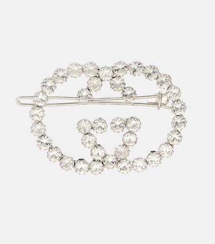 Barrette en laiton à cristaux - Gucci - Modalova