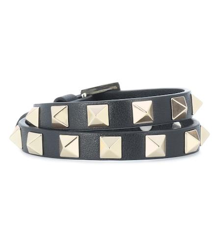 – Bracelet Rockstud en cuir - Valentino Garavani - Modalova