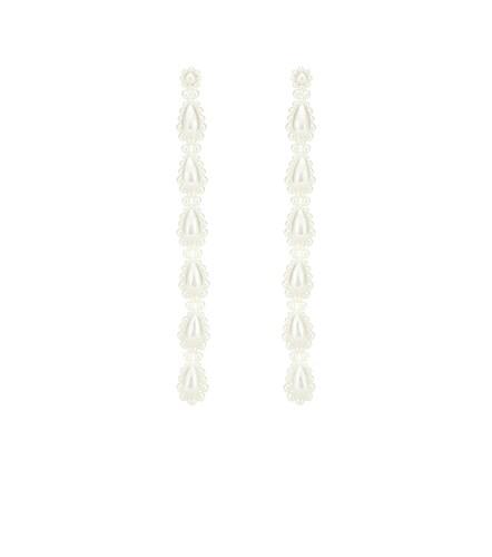 Boucles d'oreilles à perles fantaisie - Simone Rocha - Modalova